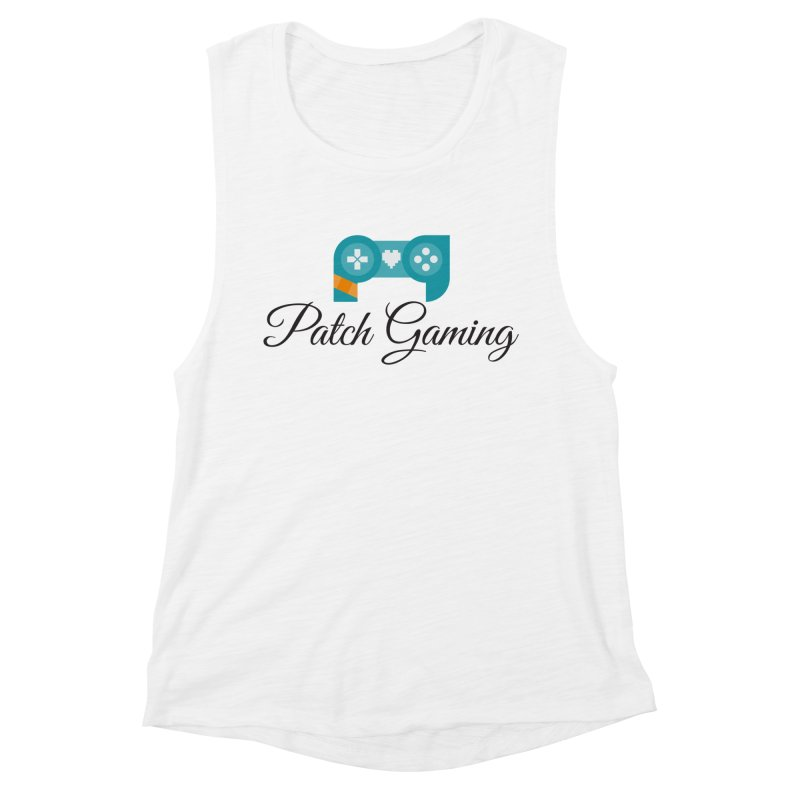 Patch Logo (Black Text) Women's Tank by Patch Gaming's Merchandise Shop