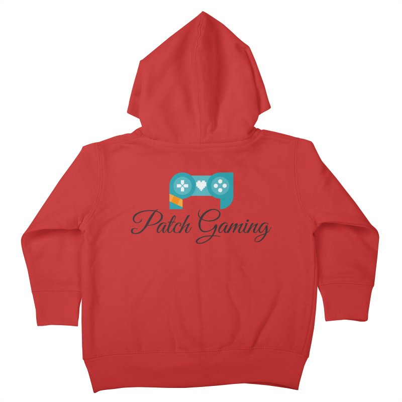 Patch Logo (Black Text) Kids Toddler Zip-Up Hoody by Patch Gaming's Merchandise Shop