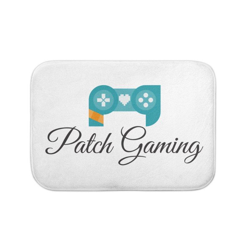 Patch Logo (Black Text) Home Bath Mat by Patch Gaming's Merchandise Shop