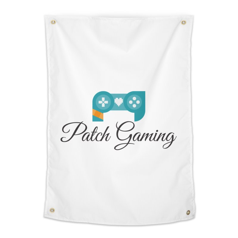 Patch Logo (Black Text) Home Tapestry by Patch Gaming's Merchandise Shop