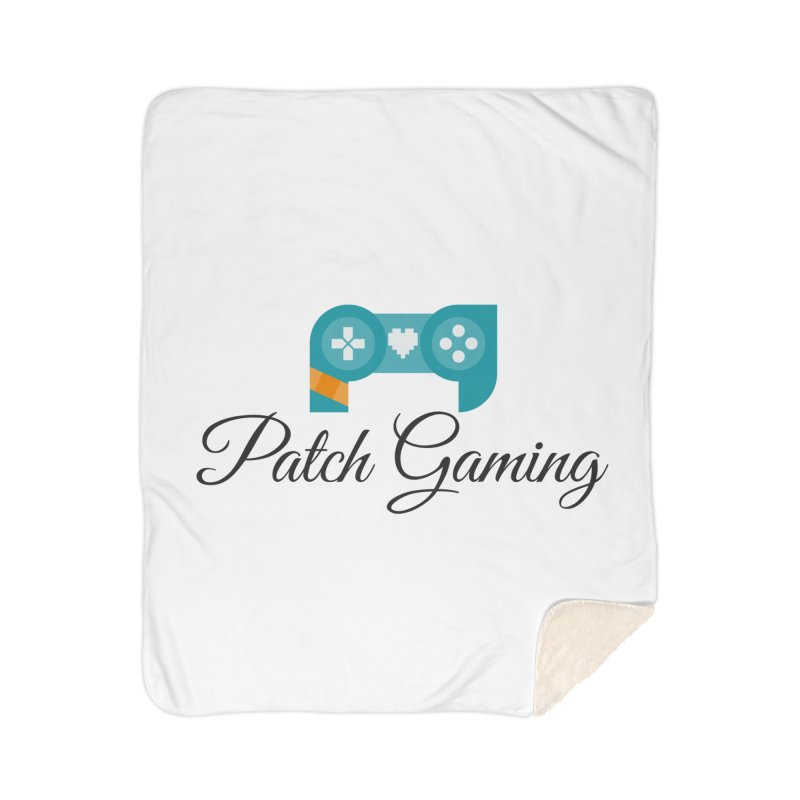 Patch Logo (Black Text) Home Blanket by Patch Gaming's Merchandise Shop