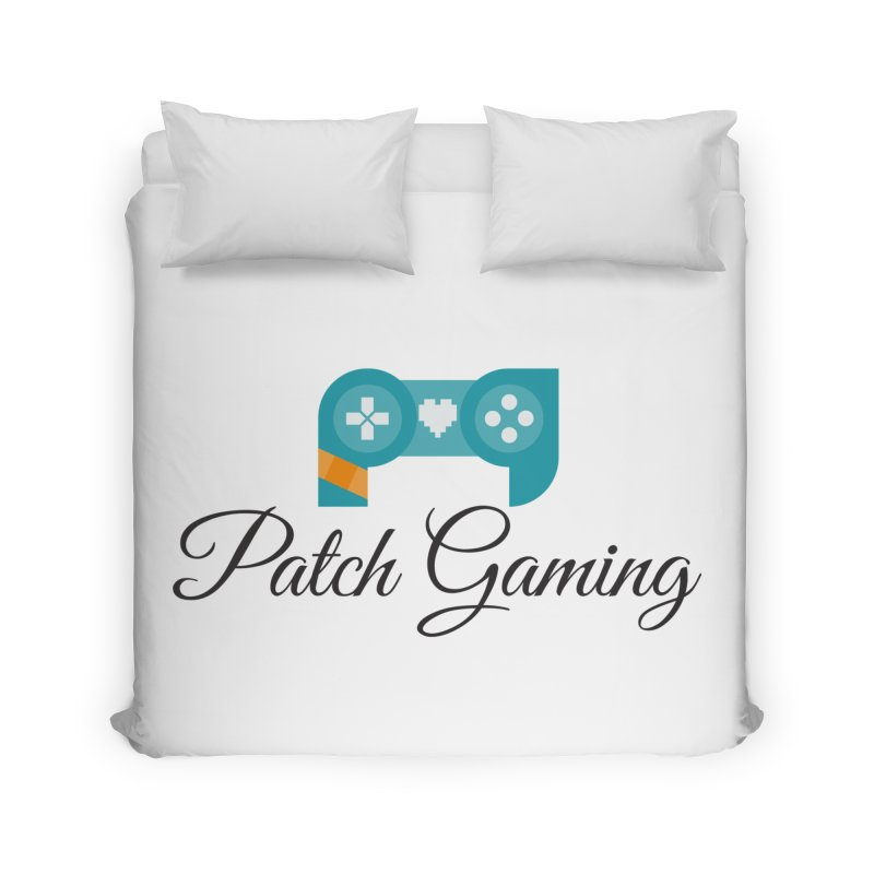 Patch Logo (Black Text) Home Duvet by Patch Gaming's Merchandise Shop