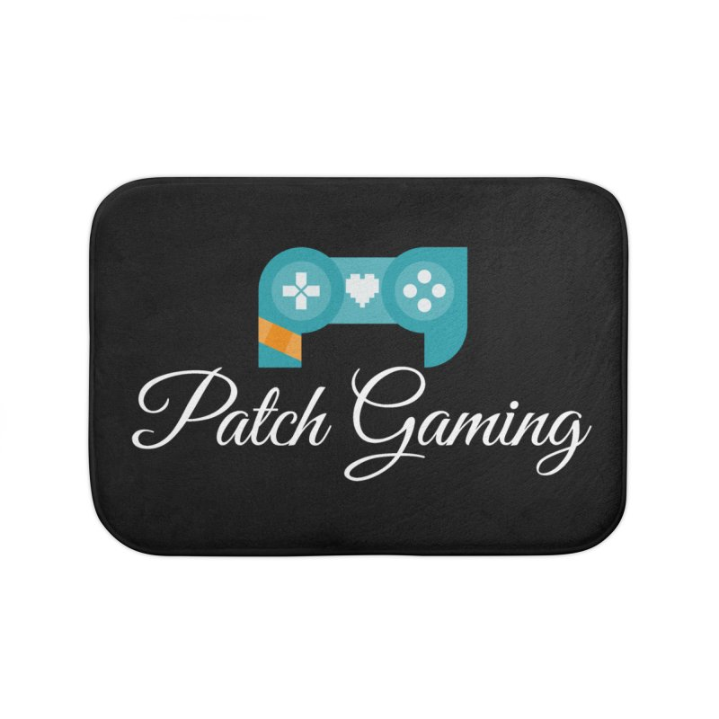 Logo (White Text) Home Bath Mat by Patch Gaming's Merchandise Shop