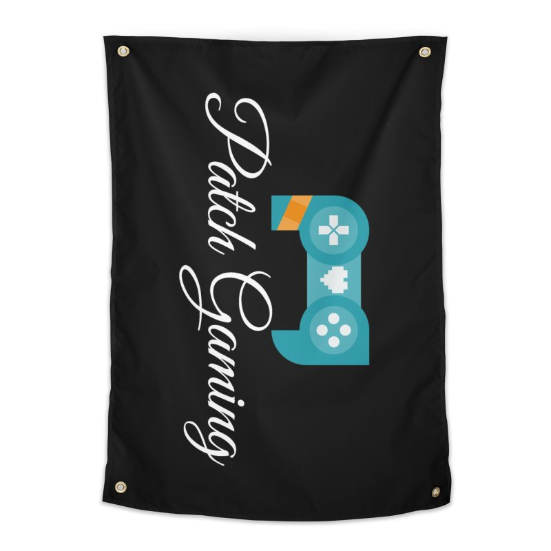 Logo (White Text) Home Tapestry by Patch Gaming's Merchandise Shop