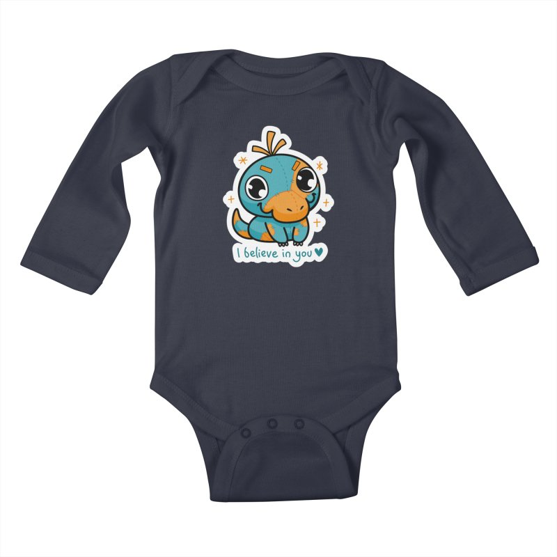 I Believe in You! Kids Baby Longsleeve Bodysuit by Patch Gaming's Merchandise Shop