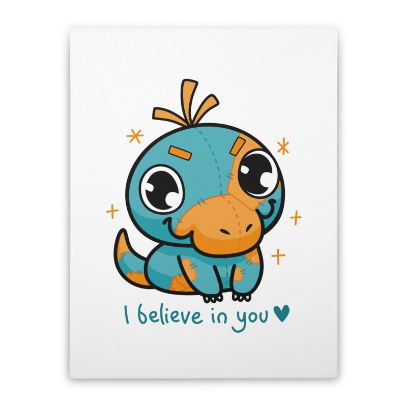 I Believe in You! Home Stretched Canvas by Patch Gaming's Merchandise Shop