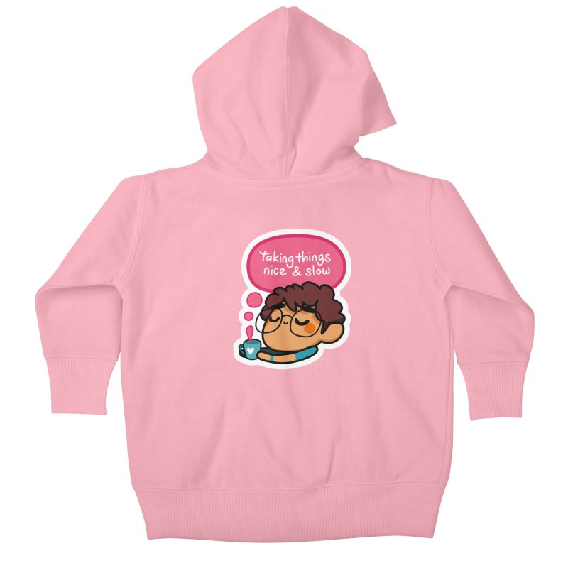Taking Things Nice and Slow Kids Baby Zip-Up Hoody by Patch Gaming's Merchandise Shop