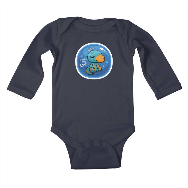 I Need My Space Kids Baby Longsleeve Bodysuit by Patch Gaming's Merchandise Shop