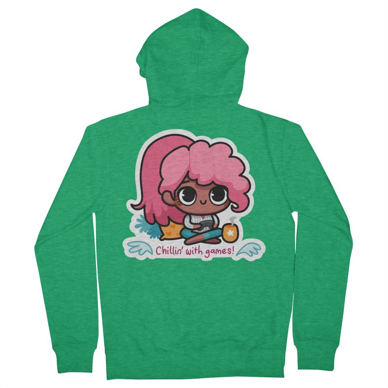 Chillin' With Games Men's Zip-Up Hoody by Patch Gaming's Merchandise Shop