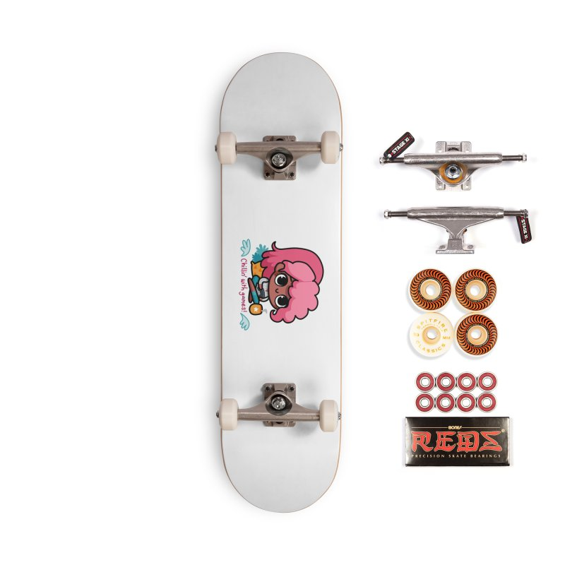 Chillin' With Games Accessories Skateboard by Patch Gaming's Merchandise Shop