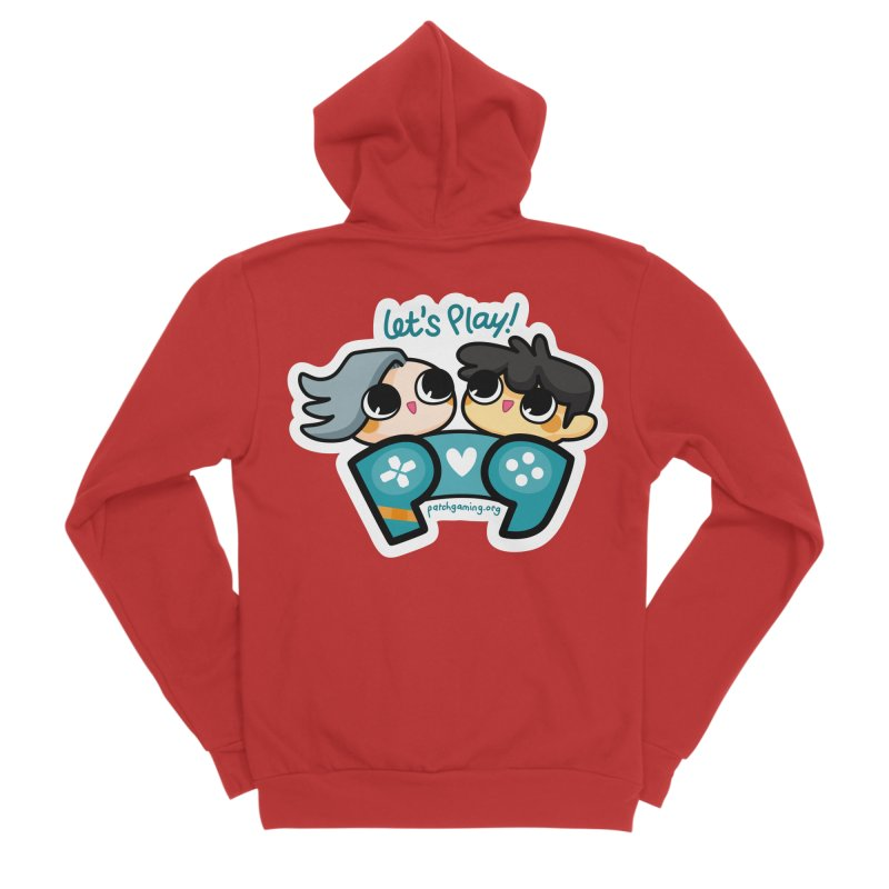 Let's Play! Men's Zip-Up Hoody by Patch Gaming's Merchandise Shop