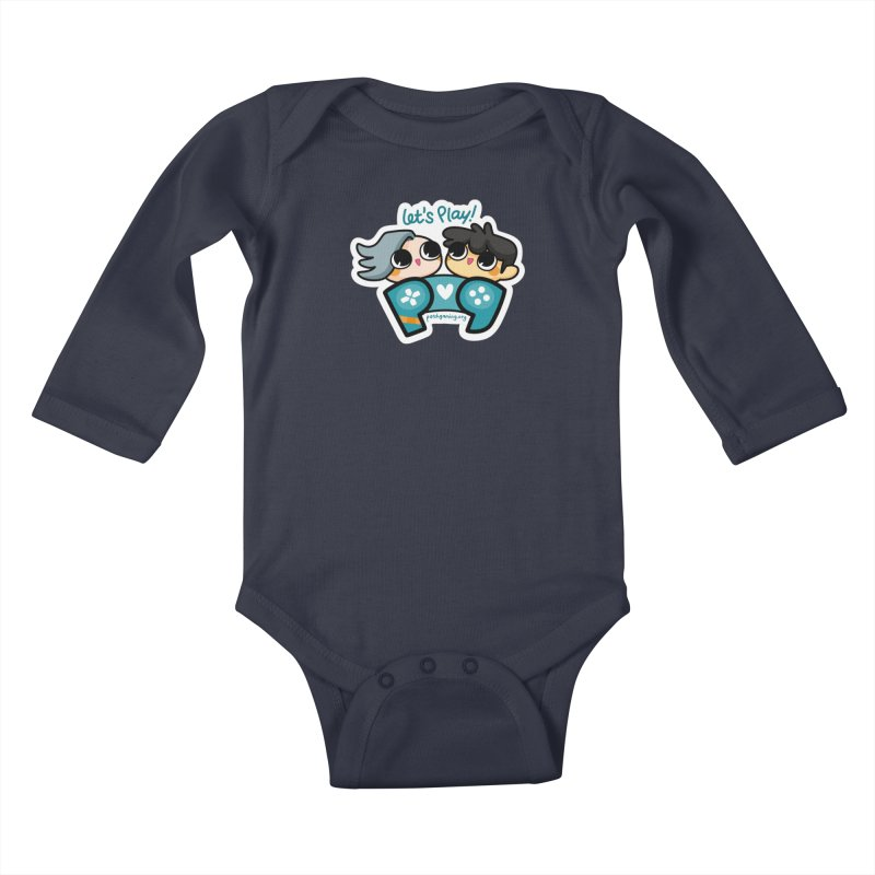 Let's Play! Kids Baby Longsleeve Bodysuit by Patch Gaming's Merchandise Shop