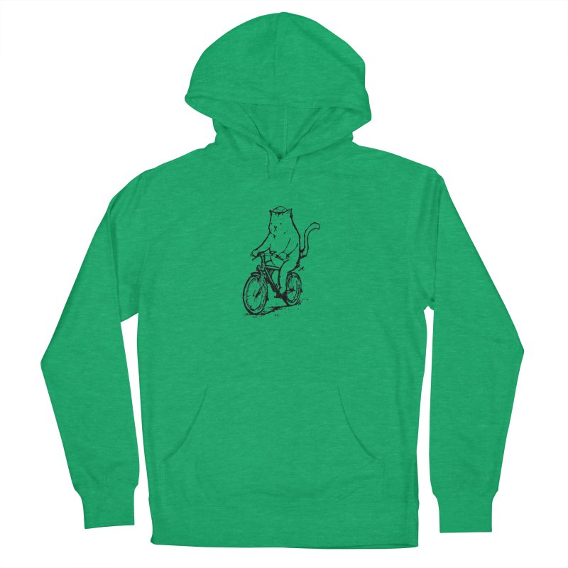 Alley Cat (black) Women's French Terry Pullover Hoody by Patrick Arena Art's Artist Shop