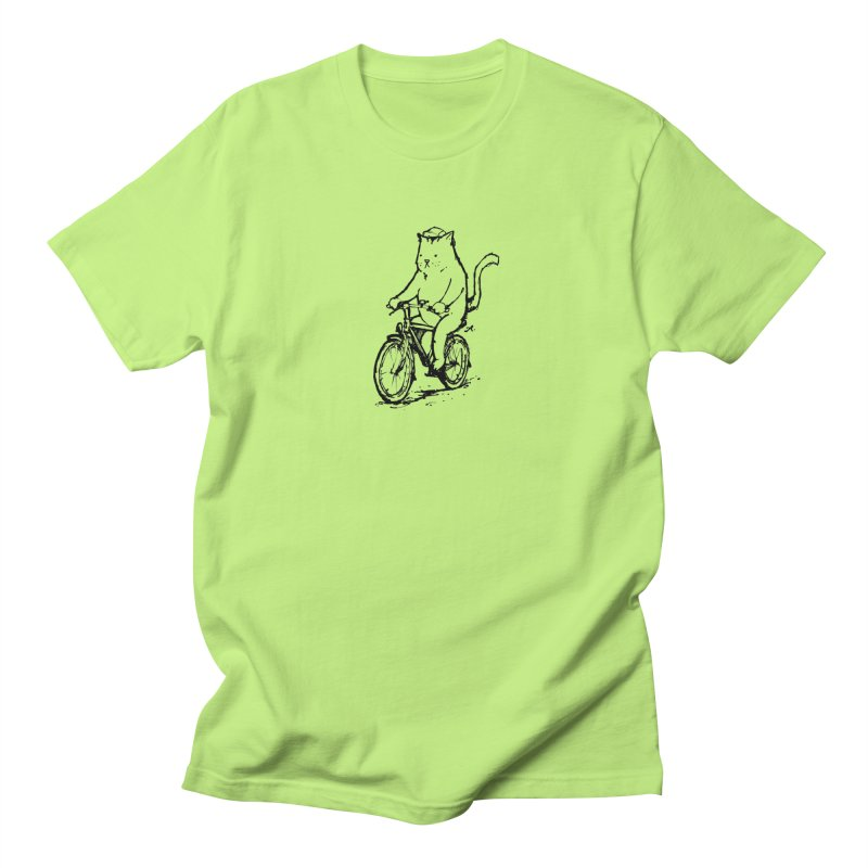 Alley Cat (black) Men's Regular T-Shirt by Patrick Arena Art's Artist Shop