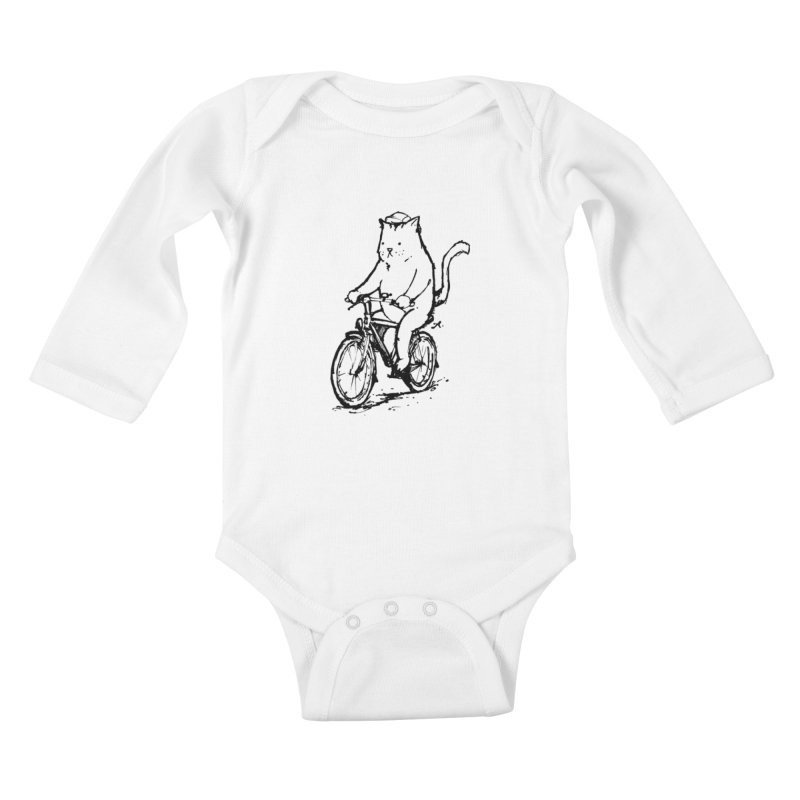 Alley Cat (black) Kids Baby Longsleeve Bodysuit by Patrick Arena Art's Artist Shop