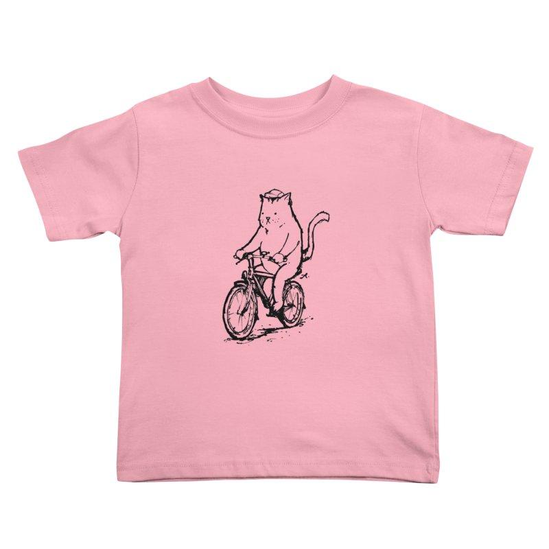Alley Cat (black) Kids Toddler T-Shirt by Patrick Arena Art's Artist Shop