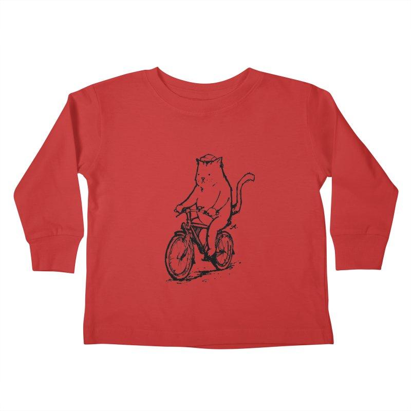 Alley Cat (black) Kids Toddler Longsleeve T-Shirt by Patrick Arena Art's Artist Shop