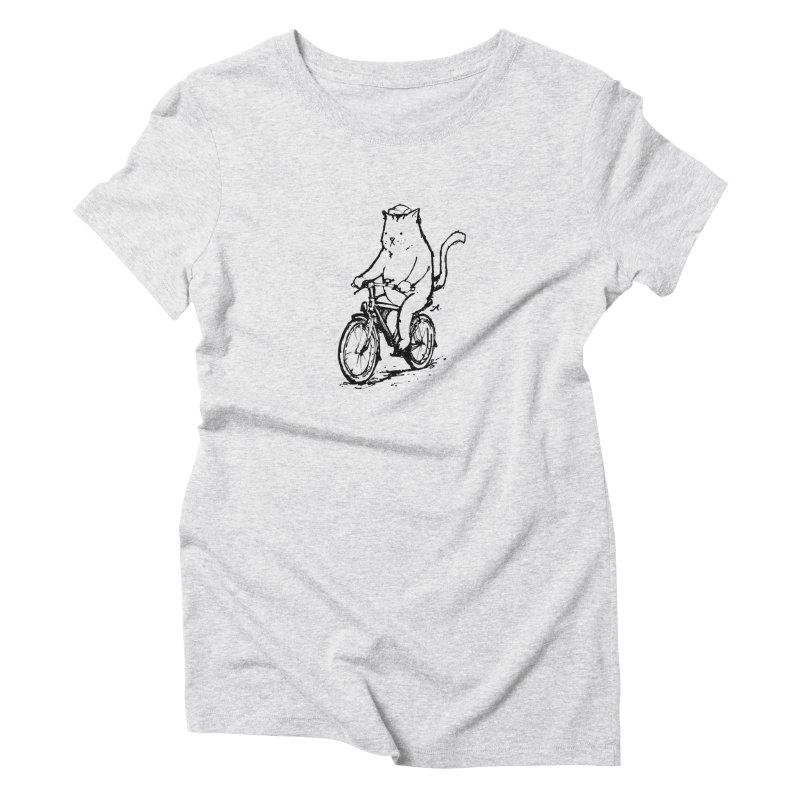 Alley Cat (black) Women's Triblend T-Shirt by Patrick Arena Art's Artist Shop