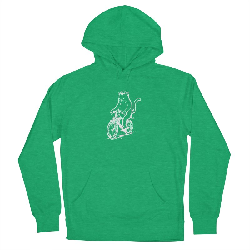 Alley Cat (white) Women's French Terry Pullover Hoody by Patrick Arena Art's Artist Shop