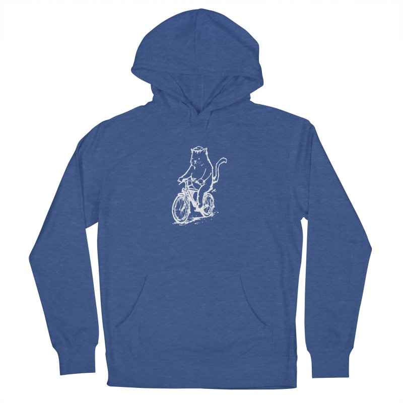 Alley Cat (white) Men's French Terry Pullover Hoody by Patrick Arena Art's Artist Shop