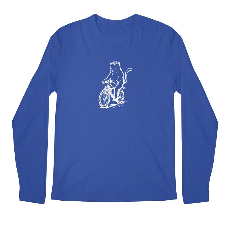 Alley Cat (white) Men's Regular Longsleeve T-Shirt by Patrick Arena Art's Artist Shop