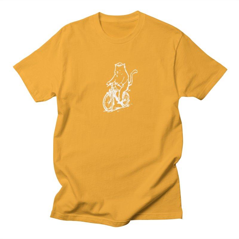 Alley Cat (white) Men's Regular T-Shirt by Patrick Arena Art's Artist Shop