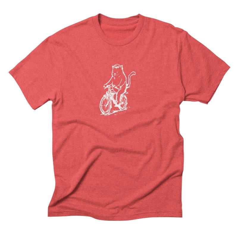 Alley Cat (white) Men's Triblend T-Shirt by Patrick Arena Art's Artist Shop