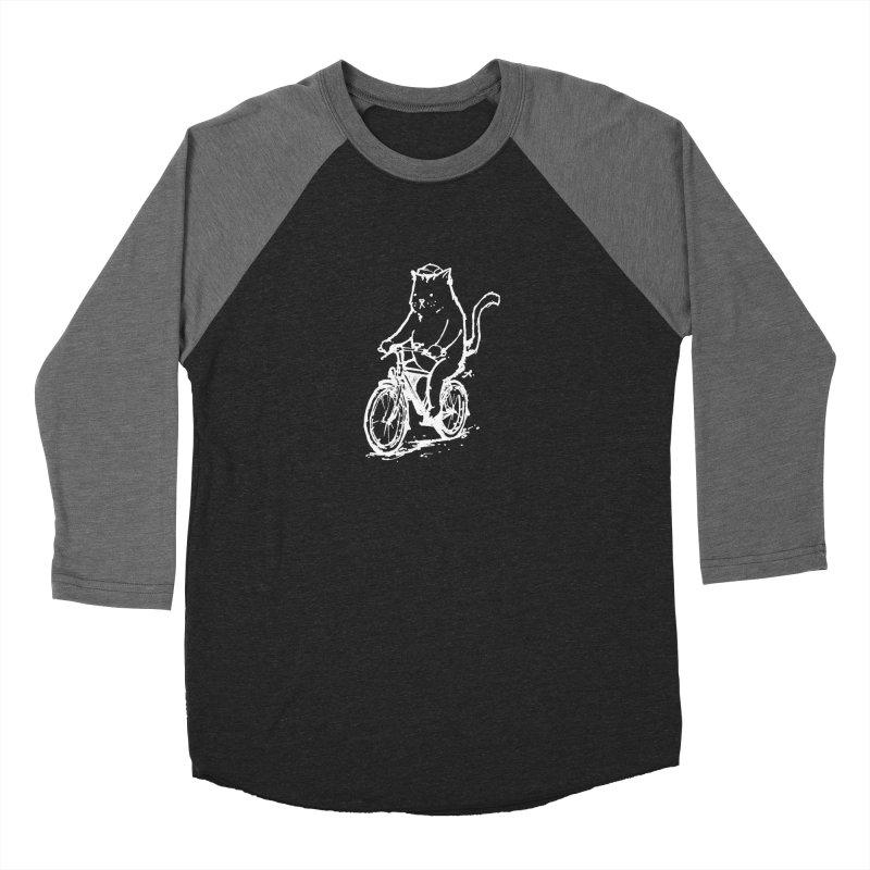 Alley Cat (white) Men's Baseball Triblend Longsleeve T-Shirt by Patrick Arena Art's Artist Shop