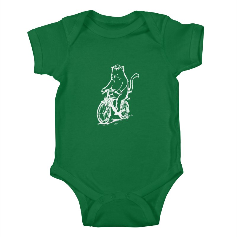 Alley Cat (white) Kids Baby Bodysuit by Patrick Arena Art's Artist Shop