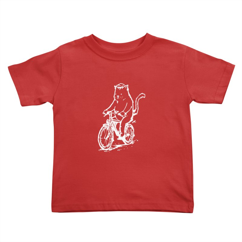 Alley Cat (white) Kids Toddler T-Shirt by Patrick Arena Art's Artist Shop