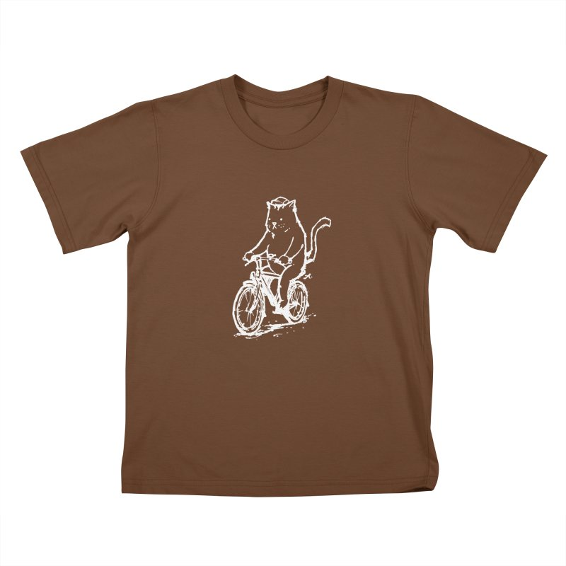 Alley Cat (white) Kids T-Shirt by Patrick Arena Art's Artist Shop
