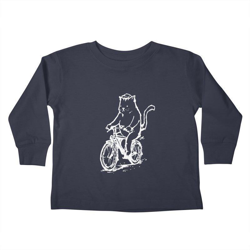 Alley Cat (white) Kids Toddler Longsleeve T-Shirt by Patrick Arena Art's Artist Shop