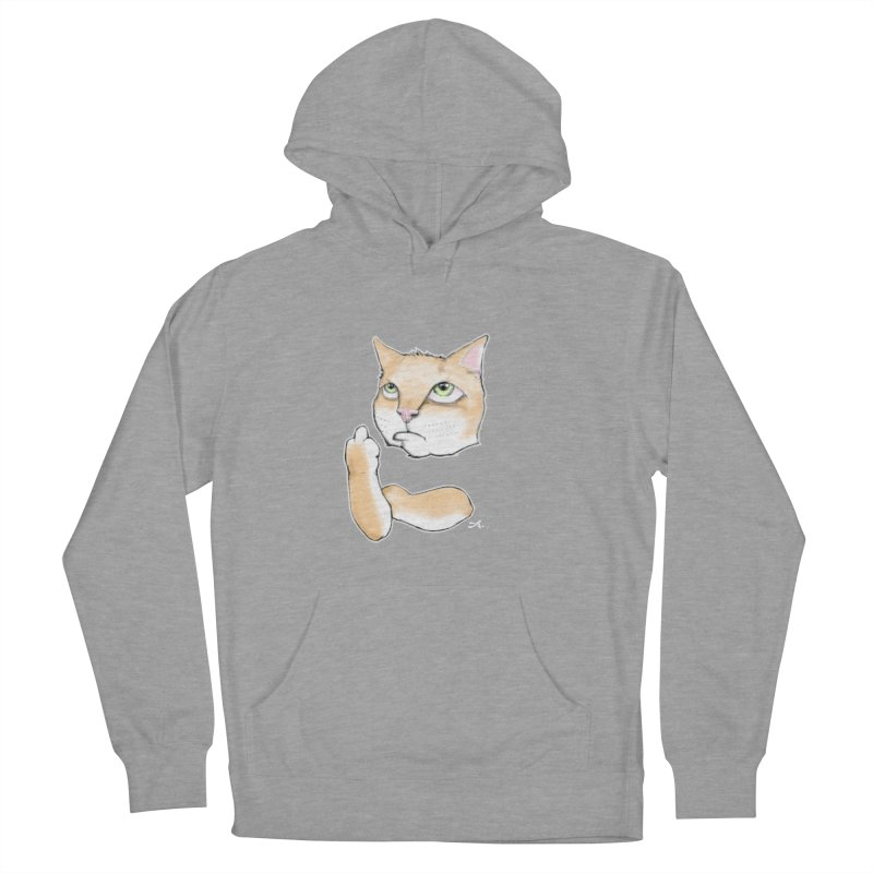 Cattitude Women's French Terry Pullover Hoody by Patrick Arena Art's Artist Shop