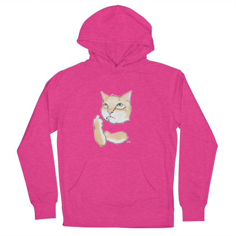 Cattitude Men's French Terry Pullover Hoody by Patrick Arena Art's Artist Shop