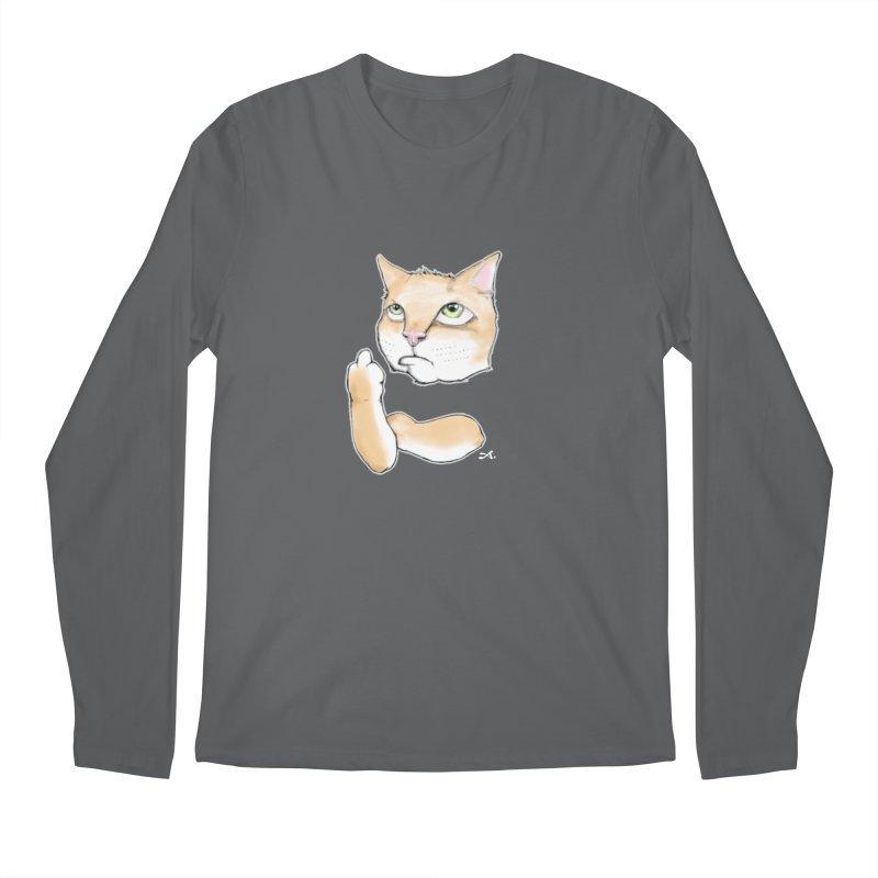 Cattitude Men's Regular Longsleeve T-Shirt by Patrick Arena Art's Artist Shop