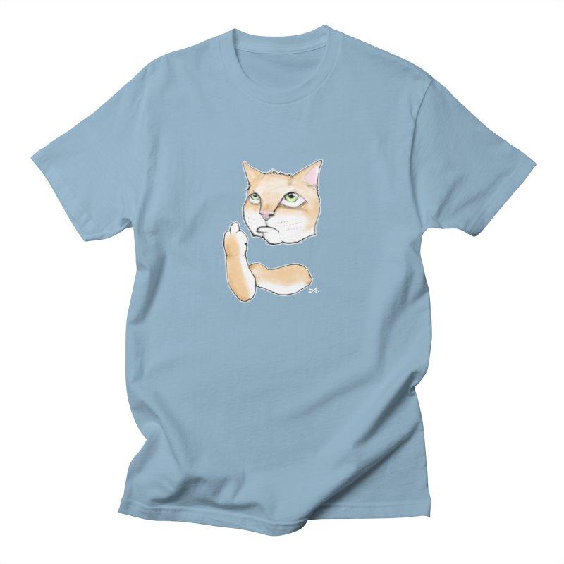 Cattitude Men's Regular T-Shirt by Patrick Arena Art's Artist Shop