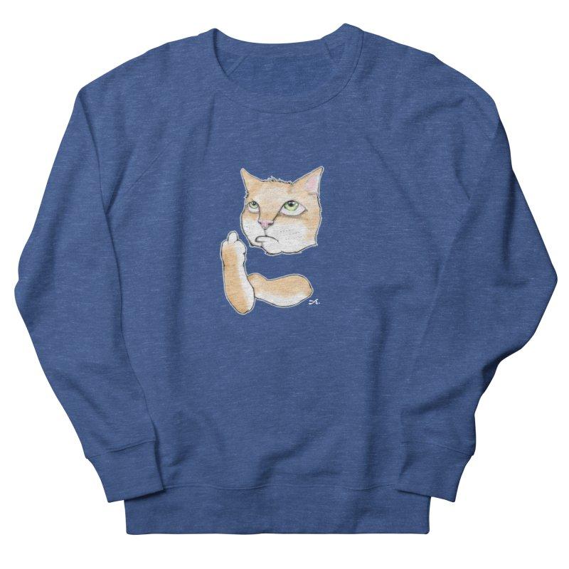 Cattitude Women's French Terry Sweatshirt by Patrick Arena Art's Artist Shop