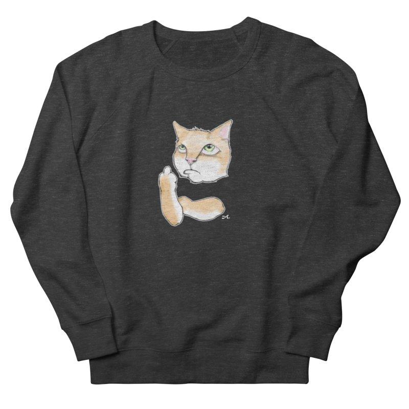 Cattitude Men's French Terry Sweatshirt by Patrick Arena Art's Artist Shop
