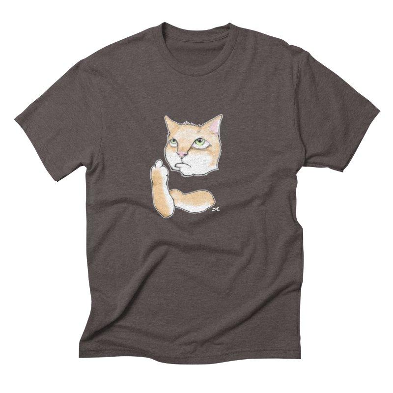 Cattitude Men's Triblend T-Shirt by Patrick Arena Art's Artist Shop