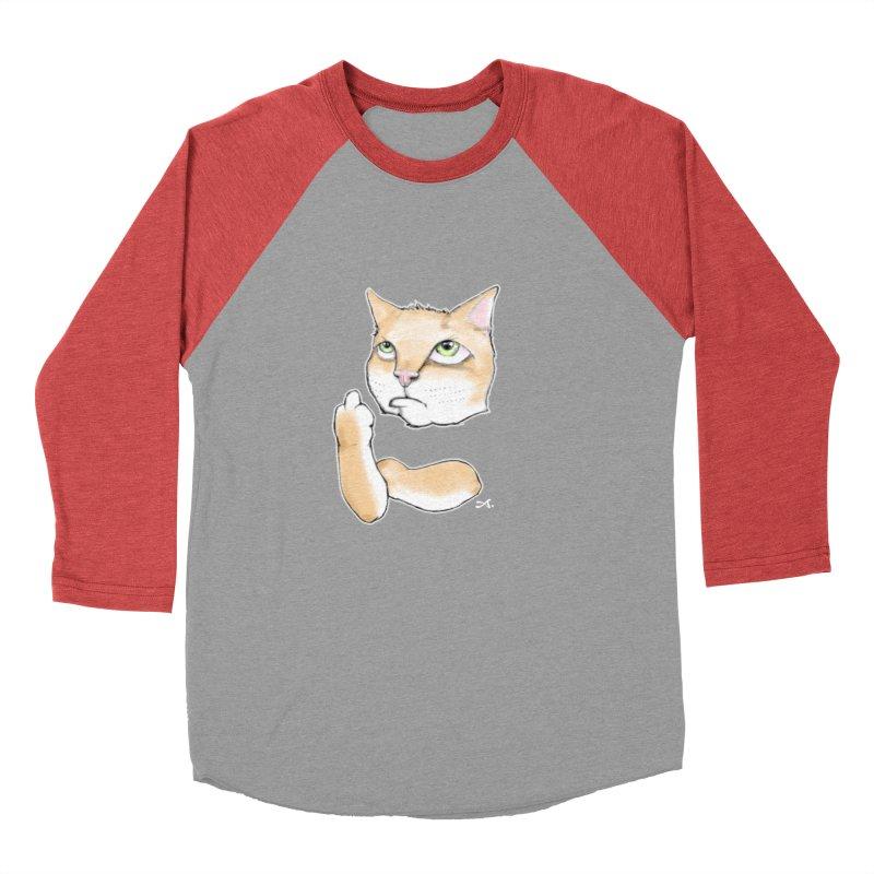Cattitude Women's Baseball Triblend Longsleeve T-Shirt by Patrick Arena Art's Artist Shop