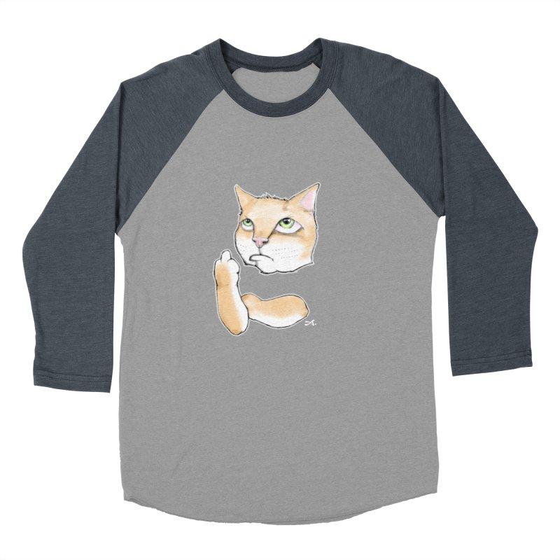 Cattitude Men's Baseball Triblend Longsleeve T-Shirt by Patrick Arena Art's Artist Shop