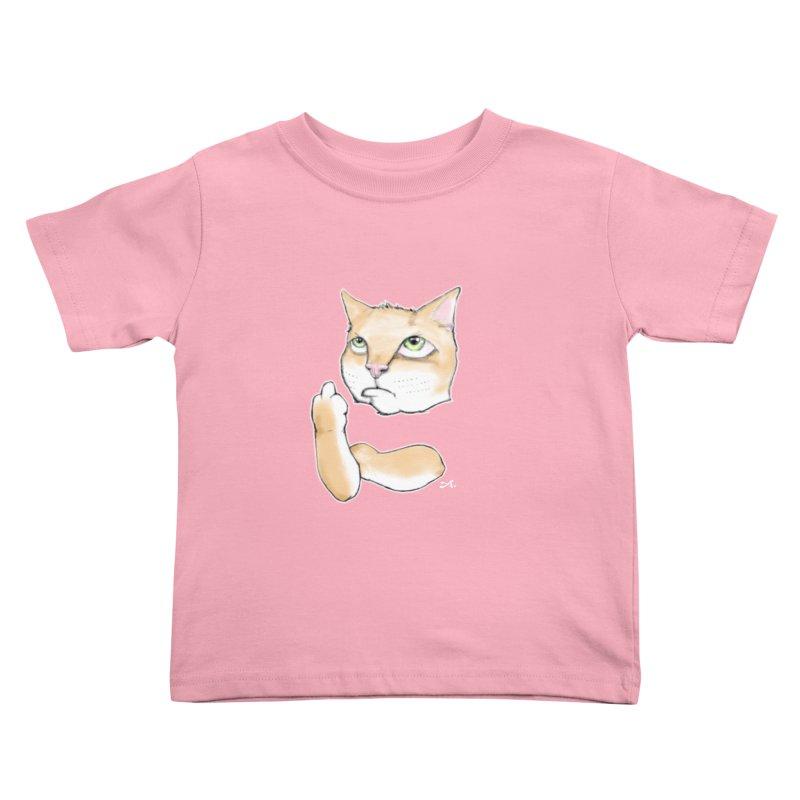 Cattitude Kids Toddler T-Shirt by Patrick Arena Art's Artist Shop