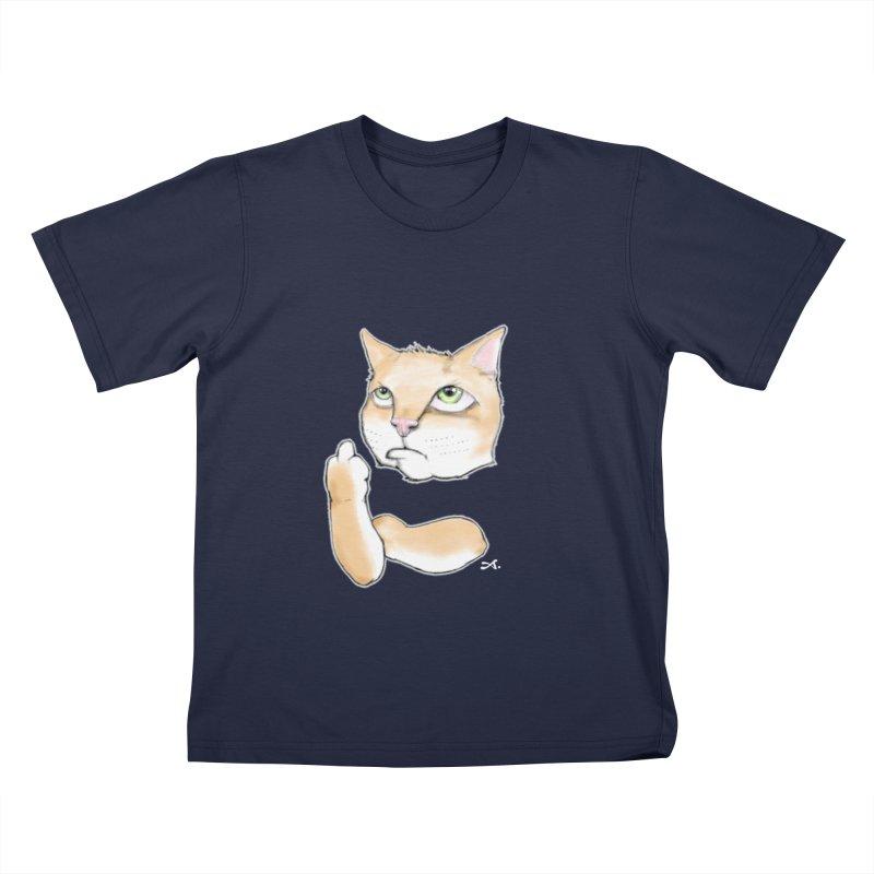 Cattitude Kids T-Shirt by Patrick Arena Art's Artist Shop