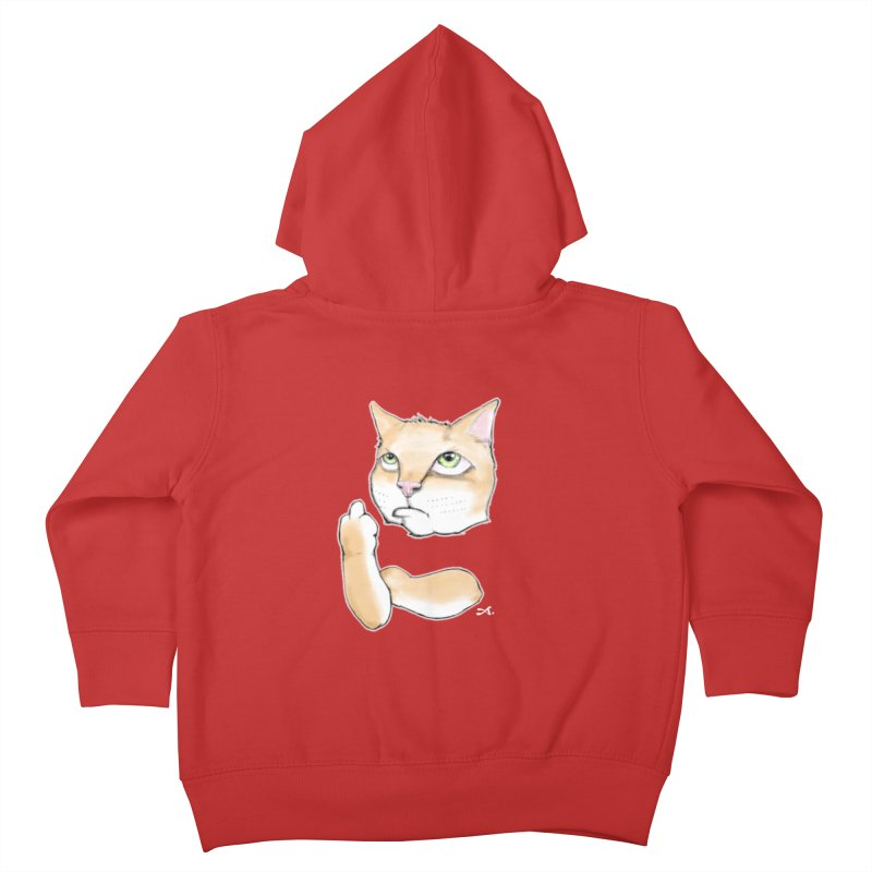 Cattitude Kids Toddler Zip-Up Hoody by Patrick Arena Art's Artist Shop
