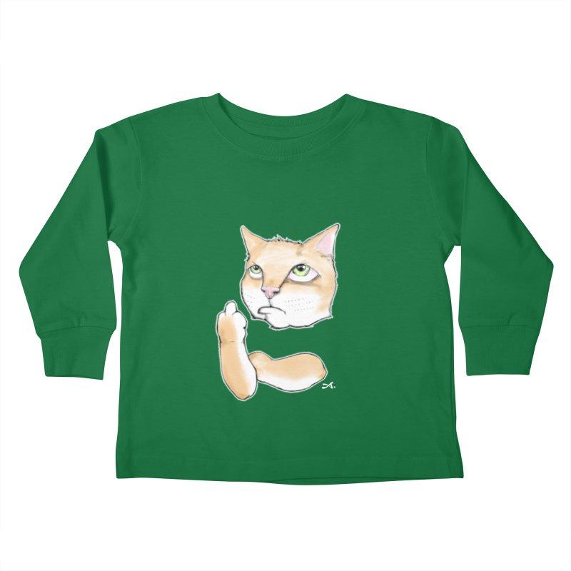 Cattitude Kids Toddler Longsleeve T-Shirt by Patrick Arena Art's Artist Shop