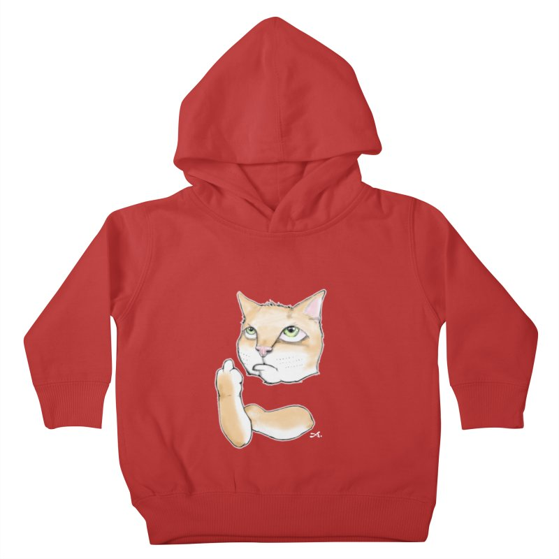 Cattitude Kids Toddler Pullover Hoody by Patrick Arena Art's Artist Shop
