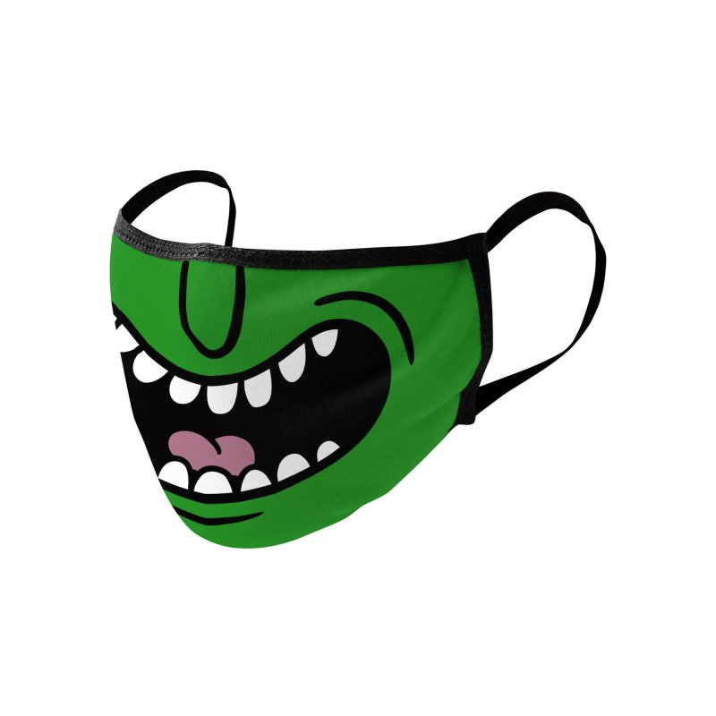 Pickle Rick Face Mask Accessories Face Mask by PaulSimic's Artist Shop