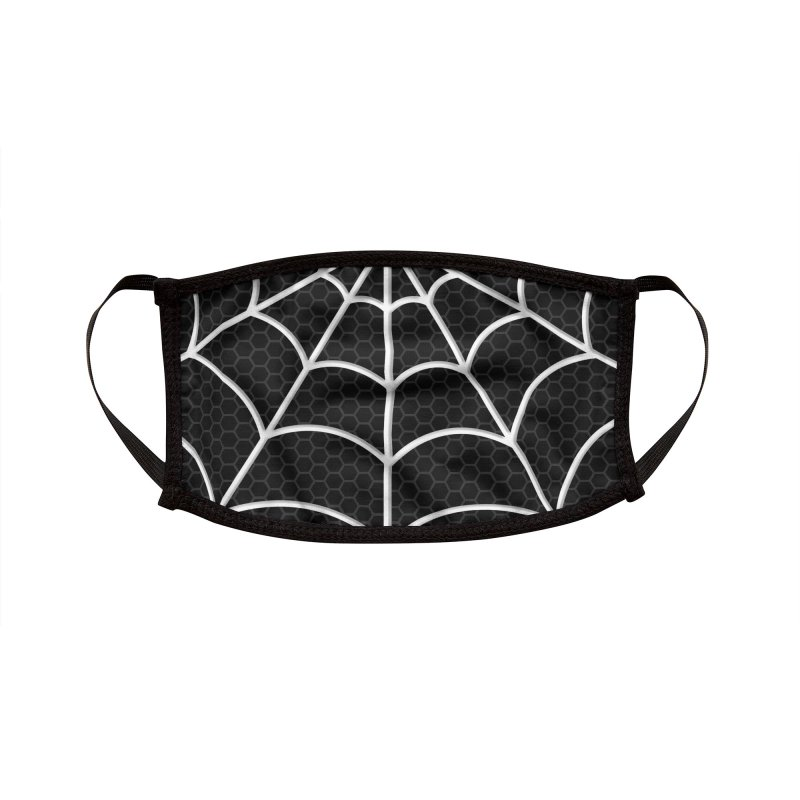 Black Spiderman Face Mask Accessories Face Mask by PaulSimic's Artist Shop