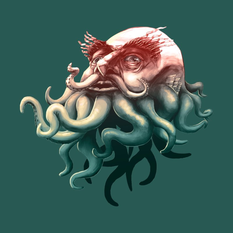 Tentacle Beard Kids Baby T-Shirt by Paul Johnson's Artist Shop