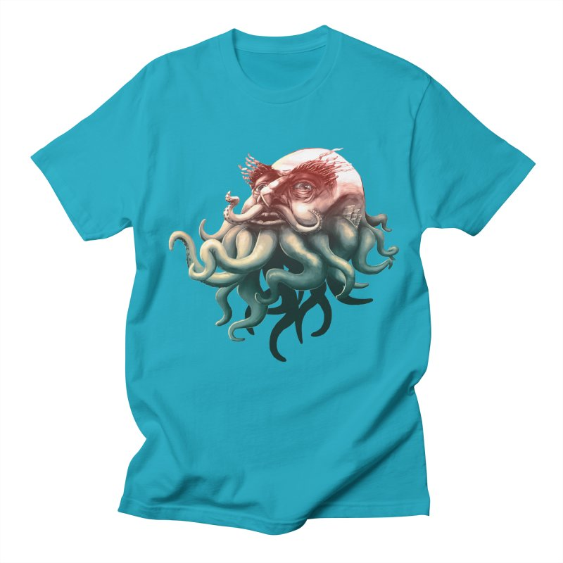 Tentacle Beard Men's T-shirt by Paul Johnson's Artist Shop